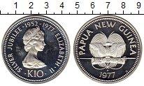 Изображение Монеты Папуа-Новая Гвинея 10 кин 1977 Серебро Proof-