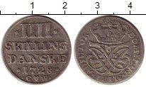 Изображение Монеты Дания 4 скиллинга 1728 Серебро XF-