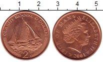 Изображение Монеты Великобритания Остров Мэн 2 пенса 2001 Бронза XF
