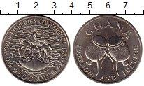 Изображение Монеты Гана 50 седи 1983 Медно-никель XF