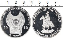 Изображение Монеты Конго 10 франков 2010 Посеребрение Proof-