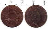 Изображение Монеты Великобритания Гернси 1 пенни 1986 Бронза XF