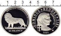 Изображение Монеты Конго 10 франков 2005 Серебро Proof