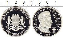 Изображение Монеты Сомали 2000 шиллингов 2006 Серебро Proof