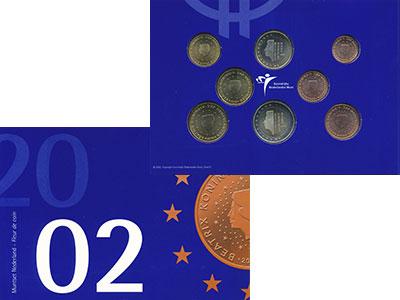 Изображение Подарочные монеты Нидерланды Евронабор 2002  UNC Представляем Вашему