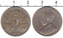 Изображение Монеты Канада 5 центов 1928 Медно-никель XF-