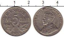 Изображение Монеты Канада 5 центов 1929 Медно-никель XF-
