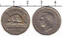 Изображение Монеты Канада 5 центов 1948 Медно-никель XF-