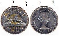 Изображение Монеты Канада 5 центов 1954 Медно-никель XF-
