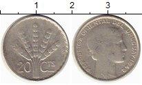 Изображение Монеты Уругвай 20 сентесим 1942 Серебро XF-