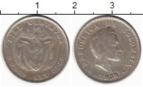 Изображение Монеты Колумбия 10 сентаво 1938 Серебро VF