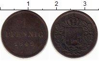 Изображение Монеты Германия Бавария 1 пфенниг 1849 Медь XF-
