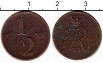 Изображение Монеты Дания 1/2 скиллинга 1838 Медь VF