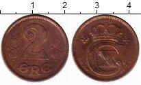 Изображение Монеты Дания 2 эре 1920 Бронза XF-