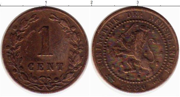 Картинка Монеты Нидерланды 1 цент Медь 1880