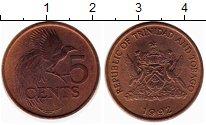 Изображение Монеты Тринидад и Тобаго 5 центов 1992 Бронза XF