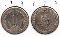 Изображение Монеты Колумбия 1 песо 1974 Медно-никель XF