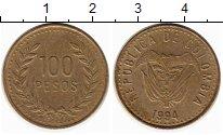 Изображение Монеты Колумбия 100 песо 1994 Латунь XF