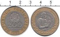 Изображение Монеты Португалия 200 эскудо 1992 Биметалл XF
