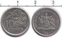 Изображение Монеты Тринидад и Тобаго 10 центов 1997 Медно-никель XF