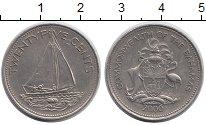 Изображение Монеты Багамские острова 25 центов 2000 Медно-никель XF