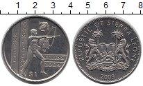 Монета Сьерра-Леоне 1 доллар Медно-никель 2003 UNC- фото
