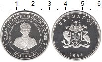 Изображение Монеты Барбадос 1 доллар 1994 Серебро Proof-