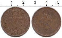Изображение Монеты Индия 1/4 анны 1942 Бронза VF