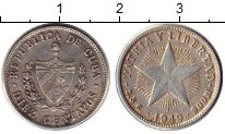 Изображение Монеты Куба 10 сентаво 1949 Серебро VF