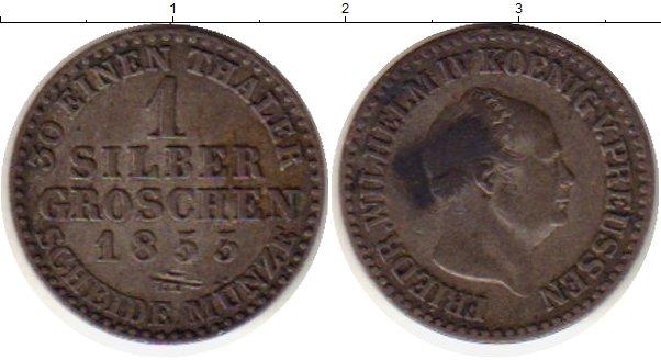 Картинка Монеты Пруссия 1 грош Серебро 1853