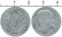 Изображение Монеты Дания Датская Индия 10 центов 1859 Серебро VF