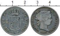 Изображение Монеты Испания 4 реала 1861 Серебро XF