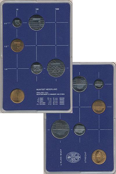 Изображение Подарочные монеты Нидерланды Набор 1986 года 1986  UNC В набор входят пять