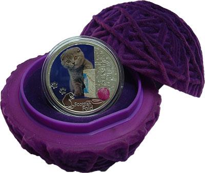 Изображение Подарочные монеты Ниуэ 2 доллара 2012 Серебро Proof Кошка Шотландская ви