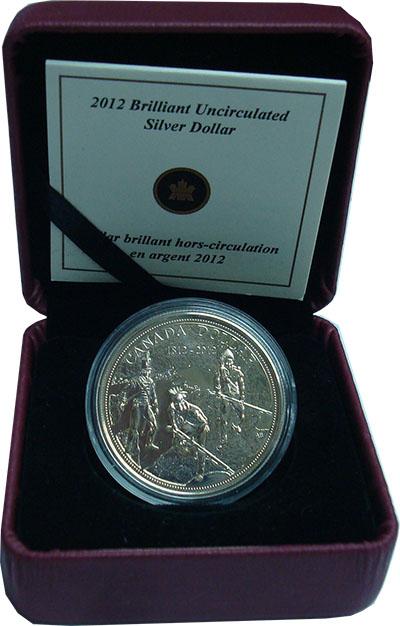 Изображение Подарочные монеты Канада 1 доллар 2012 Серебро UNC
