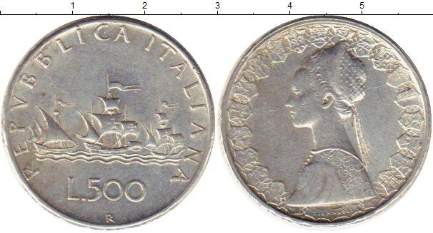 Картинка Монеты Италия 500 лир Серебро 1964