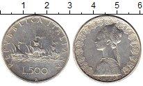Изображение Монеты Италия 500 лир 1965 Серебро XF-