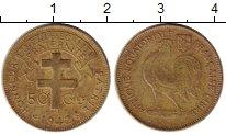 Изображение Монеты Франция Французская Экваториальная Африка 50 сантим 1942 Латунь XF-