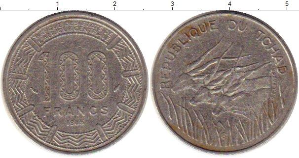Картинка Монеты Чад 100 франков Медно-никель 1985