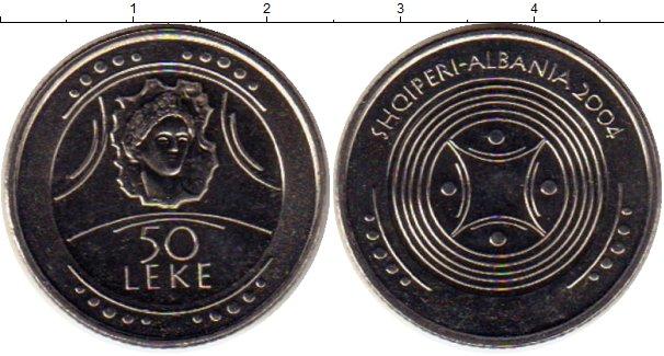 Картинка Монеты Албания 50 лек Медно-никель 2004