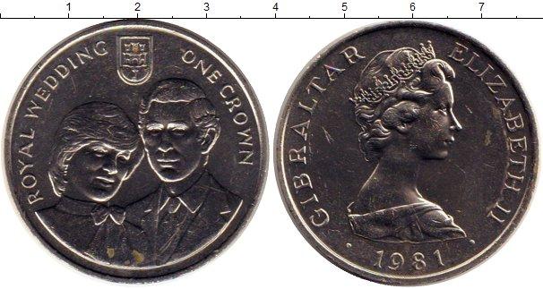 Картинка Монеты Гибралтар 1 крона Медно-никель 1981