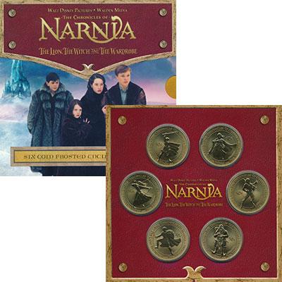 Изображение Подарочные монеты Новая Зеландия Хроники Нарнии 2006  UNC