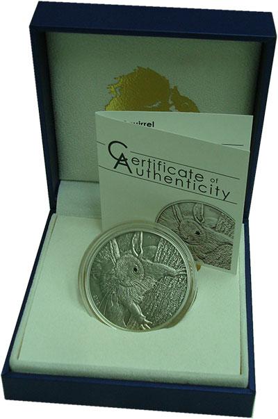 Изображение Подарочные монеты Палау 5 долларов 2012 Серебро UNC Красная белка.  Ориг