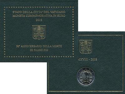 Изображение Подарочные монеты Ватикан 2 евро 2018 Биметалл UNC