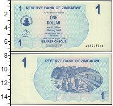 Изображение Банкноты Зимбабве 1 доллар 2007  UNC