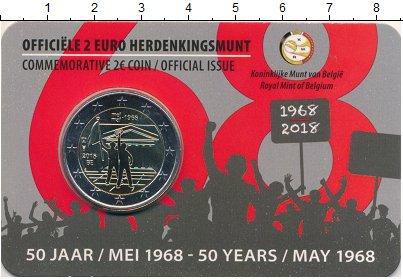 Изображение Подарочные монеты Бельгия 2 евро 2018 Биметалл UNC 50 лет студенческим