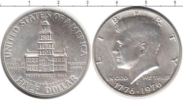 Картинка Монеты США 1/2 доллара Серебро 1976