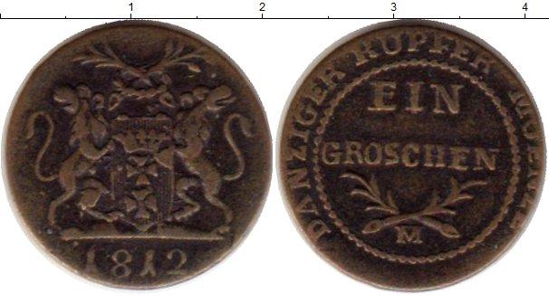 Картинка Монеты Данциг 1 грош Медь 1812