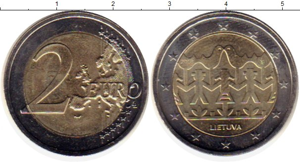 Картинка Монеты Литва 2 евро Биметалл 2018