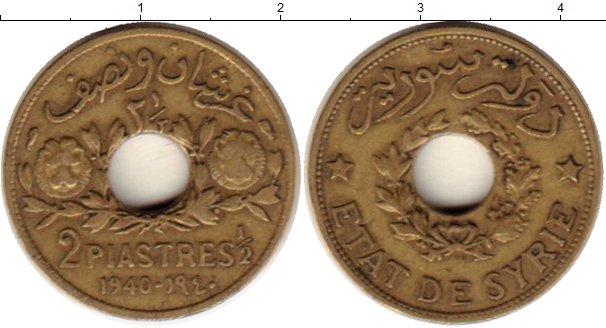 Картинка Монеты Сирия 2 1/2 пиастра Латунь 1940
